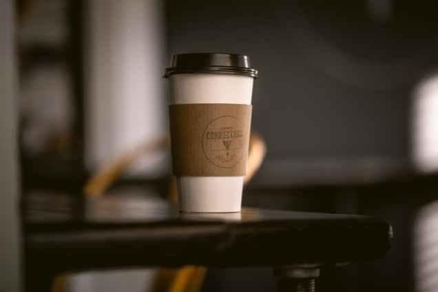 photo of coffee tumbler